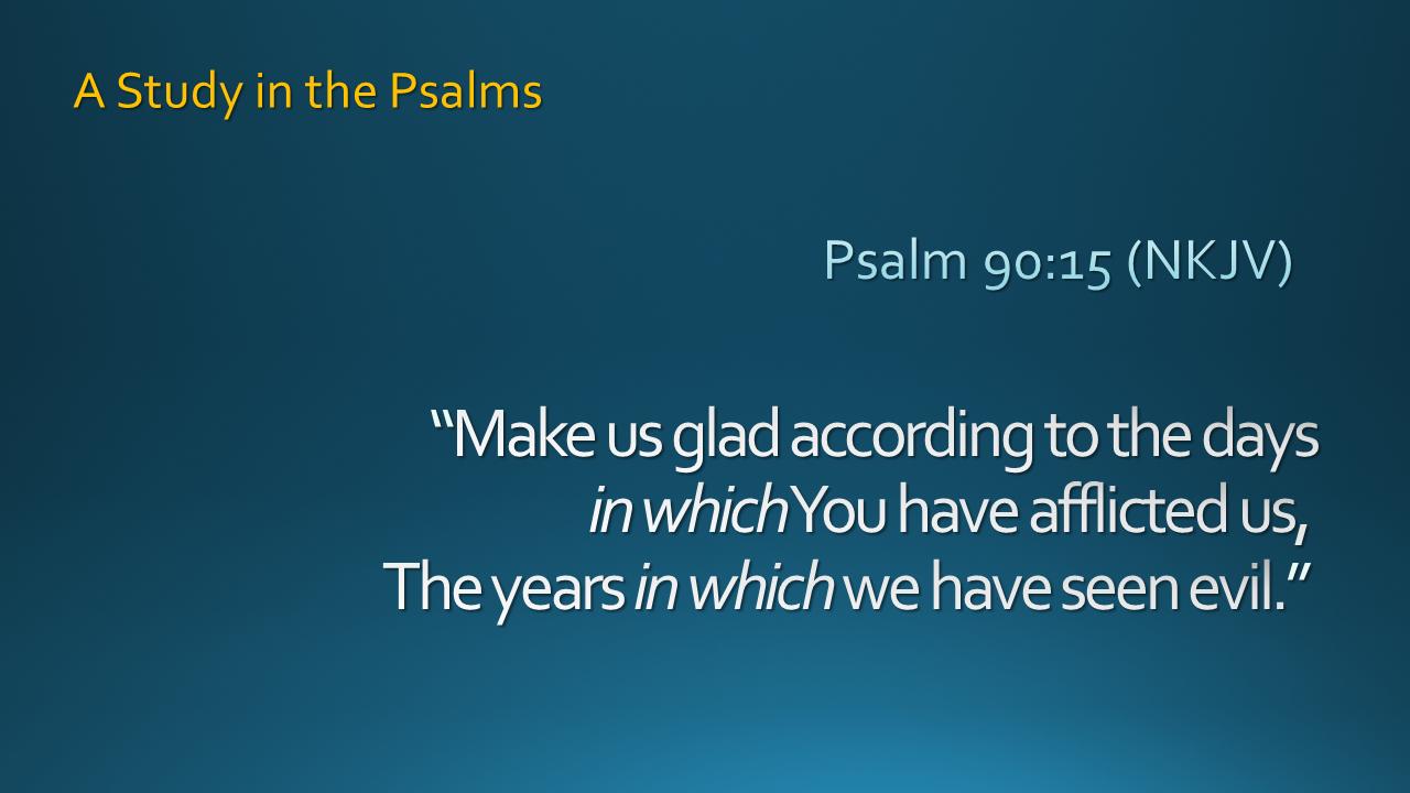 Oakland Mills Community Church - A Study in Psalms